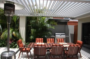 Aluminium Pergola, Outdoor Awning, Louvre Roof System - Pacific Powder Coating